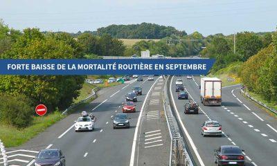 Forte baisse de la mortalité routière en septembre