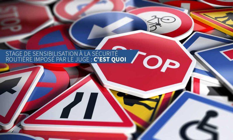 Stage de sensibilisation à la sécurité routière imposé par le juge