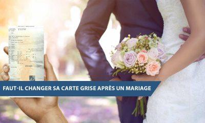 hanger sa carte grise après un mariage