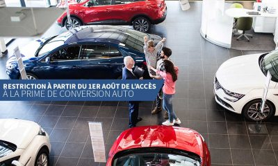 Restriction à partir du 1er août de l'accès à la prime de conversion auto