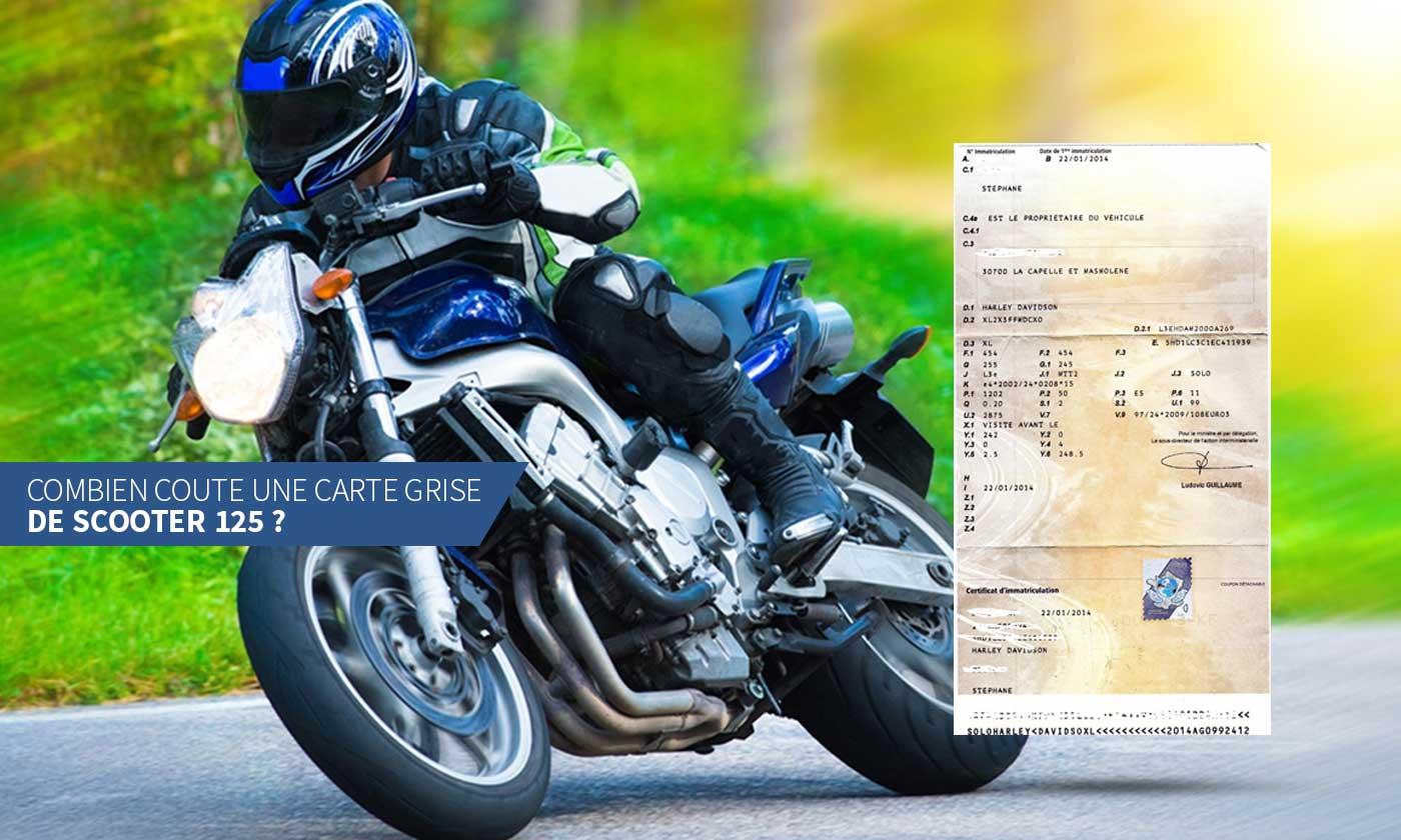 combien coûte une carte grise Combien coute une carte grise scooter 125 cc, neuf ou d'occasion ?