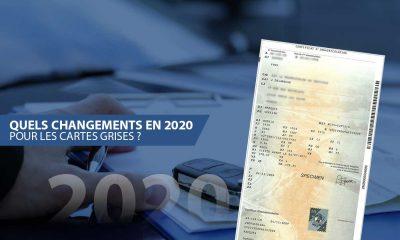 changements en 2020 pour les cartes grises