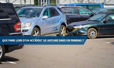 Que faire lors d'un accident de voiture dans un parking