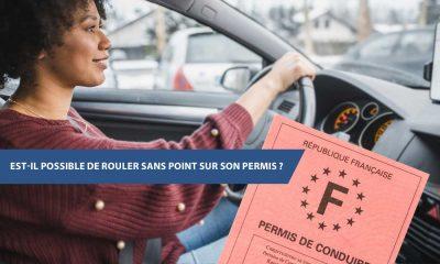 rouler sans point sur son permis